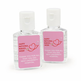 Personalized Bonnie Marcus Nurse Appreciation Heart Stethoscope Hand Sanitizer