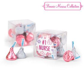 Bonnie Marcus Collection Flowers Nurse Appreciation Clear Gift Box with Sticker