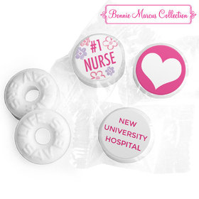 Personalized Bonnie Marcus Collection Nurse Appreciation Flowers Life Savers Mints