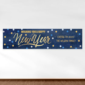 Personalized Midnight Celebration New Year's Eve 5 Ft. Banner