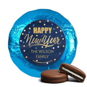 Personalized New Year's Midnight Celebration Milk Chocolate Covered Oreo Cookies (24 Pack)
