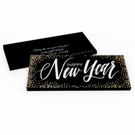 Deluxe Personalized New Year's Bubbles Chocolate Bar in Gift Box