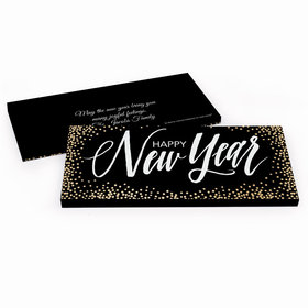 Deluxe Personalized New Year's Bubbles Candy Bar Favor Box