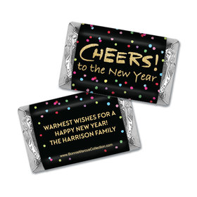 Personalized Bonnie Marcus Cheery Rainbow Dots Christmas Mini Wrappers Only