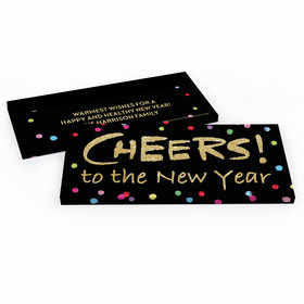 Deluxe Personalized New Year's Cheery Rainbow Dots Candy Bar Cover