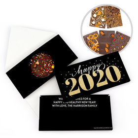 Personalized Royal Glitz New Year's Gourmet Infused Belgian Chocolate Bars (3.5oz)