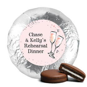 The Bubbly Rehearsal Dinner Favors Milk Chocolate Covered Oreo Assembled