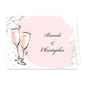 Bonnie Marcus Collection Bubbly Pink Rehearsal Dinner Thank You