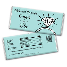Last Fling Rehearsal Dinner Favor Personalized Candy Bar - Wrapper Only