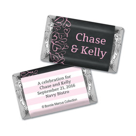 Sweetheart Swirl Rehearsal Dinner Personalized Miniature Wrappers