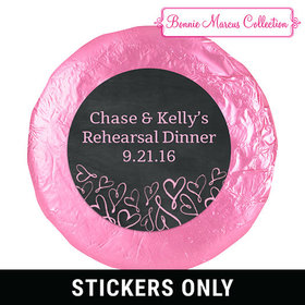 Sweetheart Swirl Rehearsal Dinner 1.25in Stickers
