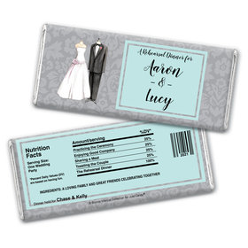 Forever TogetherRehearsal Dinner Favor Personalized Candy Bar - Wrapper Only