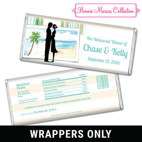 Tropical I Do Rehearsal Dinner Favors Personalized Candy Bar - Wrapper Only