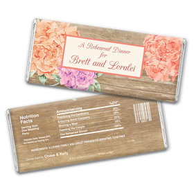 Blooming Joy Rehearsal Dinner Favor Personalized Candy Bar - Wrapper Only