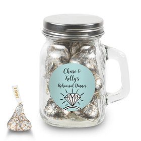 Bonnie Marcus Collection Personalized Mini Mason Jar Last Fling Rehearsal Dinner Favor (12 Pack)