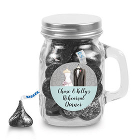 Bonnie Marcus Collection Personalized Mini Mason Jar Forever Together Rehearsal Dinner (12 Pack)