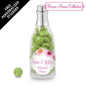 Bonnie Marcus Collection Personalized Champagne Bottle Floral Embrace Rehearsal Dinner Favors (25 Pack)