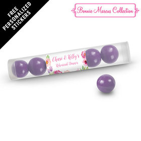 Bonnie Marcus Collection Personalized Gumball Tube Floral Embrace Rehearsal Dinner Favors (12 Pack)