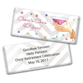 Bonnie Marcus Collection Retirement Personalized Chocolate Bar Chocolate and Wrapper Here's to You Retirement Favors