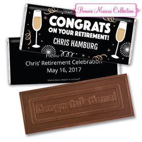 Personalized Bonnie Marcus Collection Retirement Cheers Assembled Embossed Congratulations Chocolate Bar