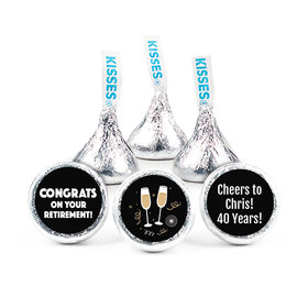 Personalized Bonnie Marcus Collection Retirement Cheers Assembled Hershey's Kisses (50 Pack)