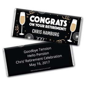 Personalized Bonnie Marcus Collection Retirement Cheers Assembled Chocolate Bar