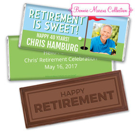 Personalized Bonnie Marcus Collection Retirement Gone Golfin' Assembled Embossed Happy Retirement Chocolate Bar