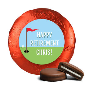Personalized Bonnie Marcus Collection Retirement Gone Golfin' Assembled Belgian Chocolate Covered Oreos (24 Pack)