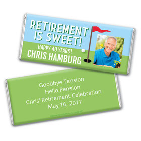 Personalized Bonnie Marcus Collection Retirement Gone Golfin' Assembled Chocolate Bar