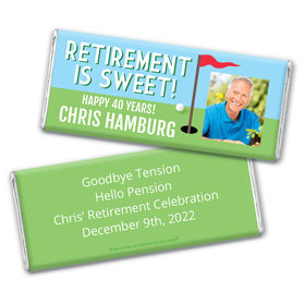 Personalized Bonnie Marcus Collection Retirement Gone Golfin' Chocolate Bar Wrapper Only