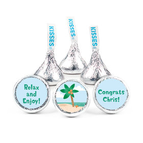 Personalized Bonnie Marcus Collection Retirement Beach Assembled Hershey's Kisses (50 Pack)