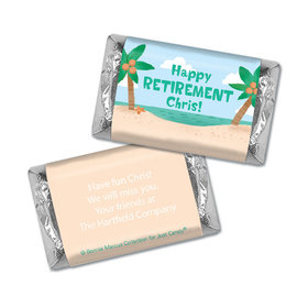 Personalized Bonnie Marcus Collection Retirement Beach Assembled Hershey's Miniatures