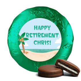 Personalized Bonnie Marcus Collection Retirement Beach Assembled Belgian Chocolate Covered Oreos (24 Pack)