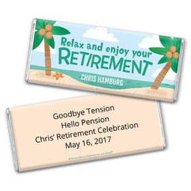 Personalized Bonnie Marcus Collection Retirement Beach Assembled Chocolate Bar
