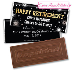 Personalized Bonnie Marcus Collection Retirement Fireworks Assembled Embossed Congratulations Chocolate Bar