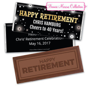 Personalized Bonnie Marcus Collection Retirement Fireworks Assembled Embossed Happy Retirement Chocolate Bar