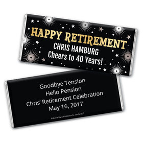 Personalized Bonnie Marcus Collection Retirement Fireworks Assembled Chocolate Bar
