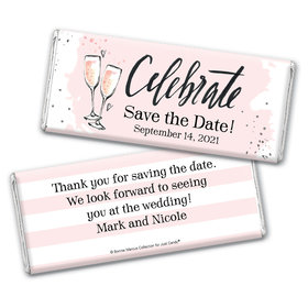The Bubbly Custom Save the Date Personalized Candy Bar - Wrapper Only