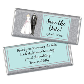 Bonnie Marcus Collection Personalized Chocolate Bar Chocolate and Wrapper Forever Together Save the Date Favor