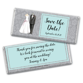 Forever Together Save the Date Favor Personalized Candy Bar - Wrapper Only