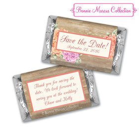 Bonnie Marcus Collection Chocolate Candy Bar and Wrapper Blooming Joy Save the Date