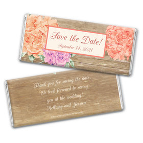 Blooming Joy Save the Date Personalized Candy Bar - Wrapper Only