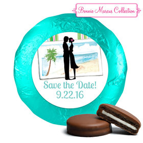 Tropical I Do Save the Date Favors Milk Chocolate Covered Oreo Assembled (24 Pack)