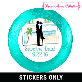 Tropical I Do Save the Date Favors 1.25in Stickers