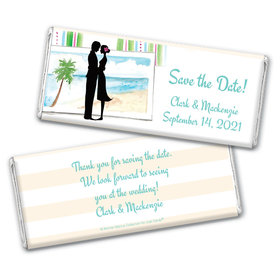 Tropical I Do Save the Date Candy Bars Personalized Candy Bar - Wrapper Only