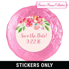 In the Pink Save the Date Favors 1.25in Stickers