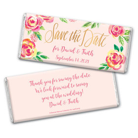 In the Pink Save the Date Favors by Bonnie Marcus Personalized Candy Bar - Wrapper Only