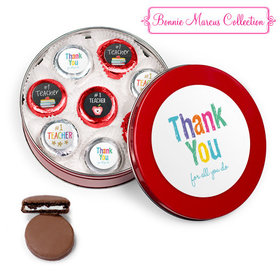 Bonnie Marcus Collection Teacher Appreciation Red Tin with 16 Chocolate Covered Oreo Cookies