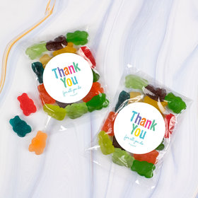 Appreciation Colorful Thank You Candy Bags with Gummi Bears