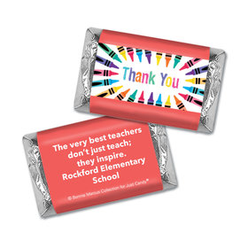 Personalized Bonnie Marcus Collection Teacher Appreciation Colorful Thank You Mini Wrappers